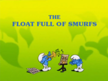 A Float Full Of Smurfs UK Title Card