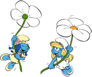Smurflily-smurfette