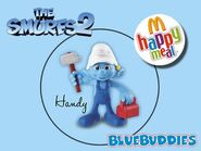 The Smurfs 2 happy meal handy
