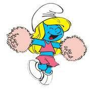 Smurfette cheerleader