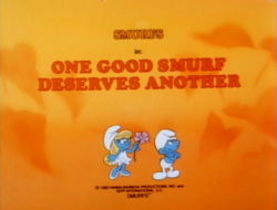 One good smurf title card