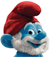 File:Papa Smurf Head.png