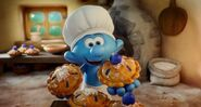 Baker Smurf Give You A Pie Blueberry