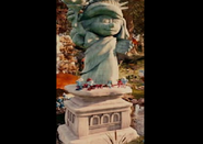 Statue of smurf liberty