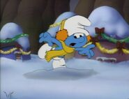 Clumsy Smurf In The Snow