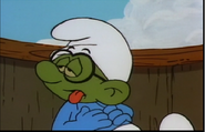 Seasick Brainy Smurf