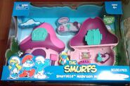64 jakks pacific smurfette pink turquoise house