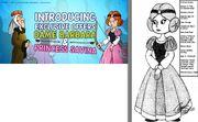Traced Princess Savina Pose for The Smurfs' Village Game