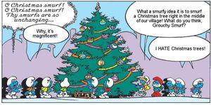 Smurfs With Christmas Tree (Comics)
