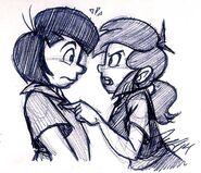 Falla & Johan Meet Pen Sketch