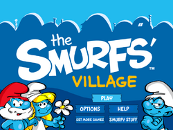 Smurf's Village Welcome Screen