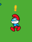 Walking papa smurf