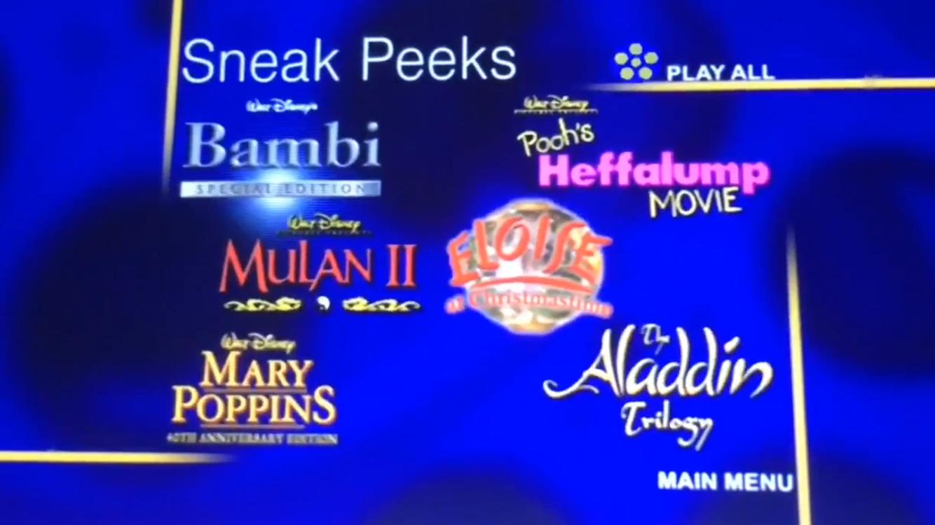 Nicknames Sneak Peeks Menu The Filmreels Evolved 1999 2006 Bumpers Live