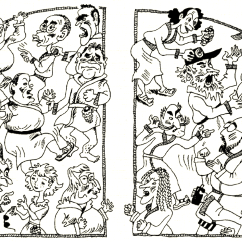 Schism in the Russian illustrations.