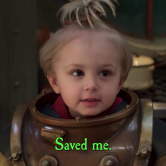Saved me.