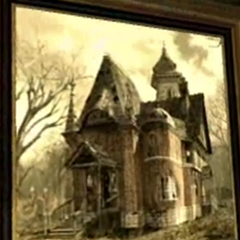A photo of the house in the PC version.