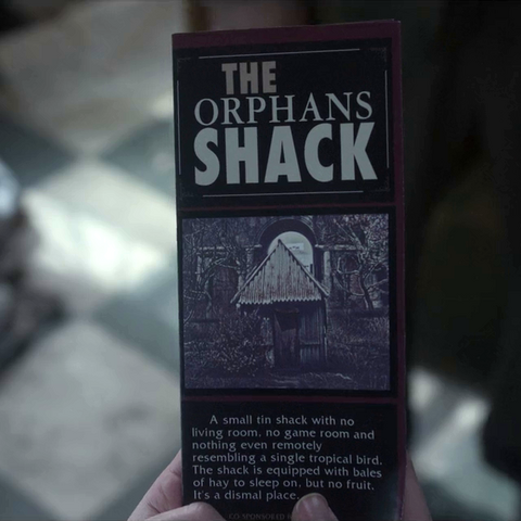 A brochure for the shack.