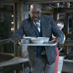 Hal kindly giving the Baudelaires soup.