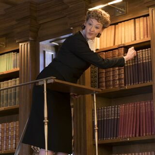 Justice Strauss in her library.