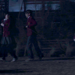 As the Baudelaires.