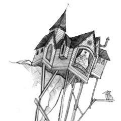 Illustration of the house by Brett Helquist.