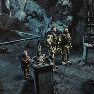 The Baudelaires in the grim grotto.