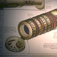 The spyglass in The Incomplete History of Secret Organizations.