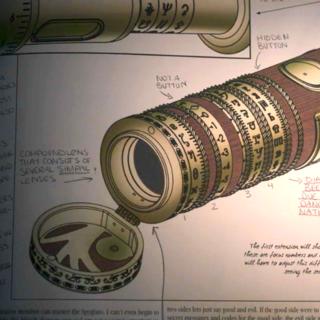 A page on a spyglass.