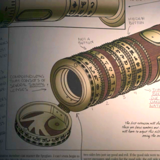 A page on a spyglass.