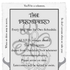 The V.F.D. ticket to the Prospero.
