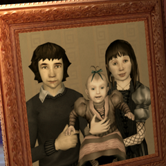 Violet with her siblings.