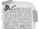 The Mamba du Mal: A Snake That Will Never Kill Me