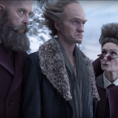Man with a Beard but No Hair, Woman with Hair but No Beard and Count Olaf.