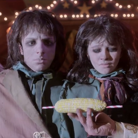 Violet and Klaus offered corn.