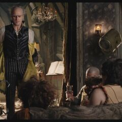 Count Olaf with his theater troupe.