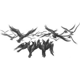 A murder of crows.