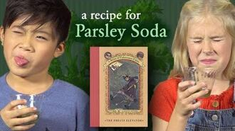 Daniel Handler Makes Parsley Soda From a Series of Unfortunate Events Shelf Stuff