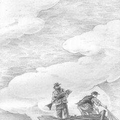 The fishermen that found Aunt Josephine's life jacket.
