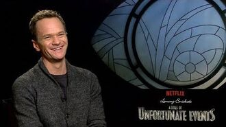 """Neil Patrick Harris Backstage with Netflix's """"A Series of Unfortunate Events"""""""