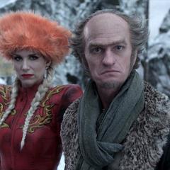 Olaf wearing winter gear.