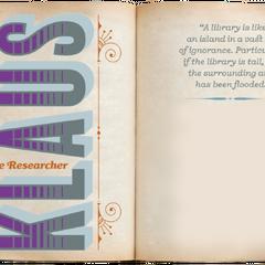Klaus: The Researcher.