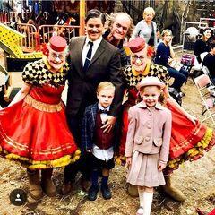 Neil Patrick Harris, his husband David Burtka and their children Harper and Gideon.