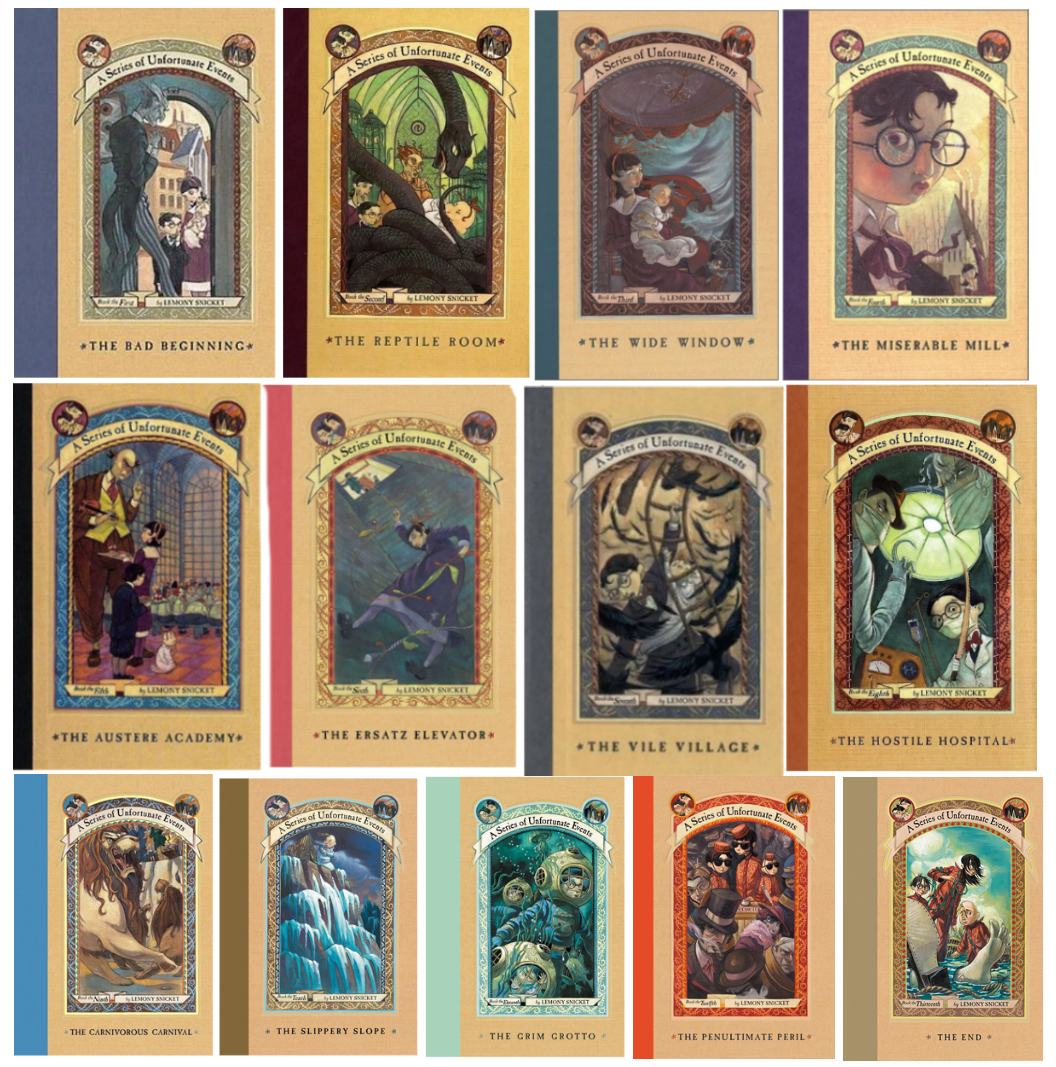 Image result for lemony snicket series of unfortunate events books