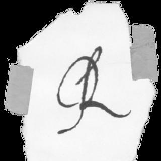 R's signature.