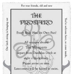 The ticket to the Prospero.