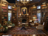Justice Strauss' library