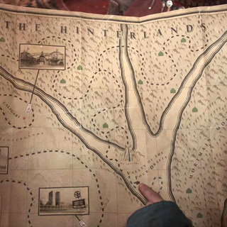 On the map.