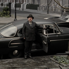 Mr. Poe with his car.