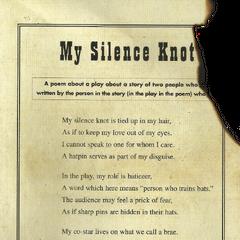 My Silence Knot.