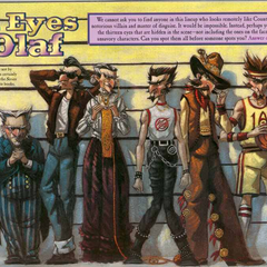 Count Olaf's various disguises.